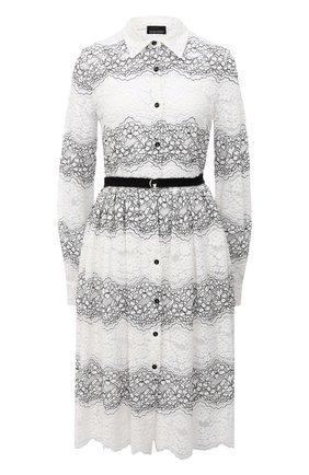 Женское платье с поясом ERMANNO ERMANNO SCERVINO черно-белого цвета, арт. 47T AB01 PIZ | Фото 1
