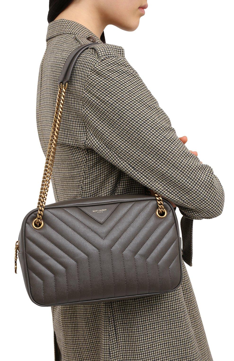 Женская сумка joan SAINT LAURENT темно-серого цвета, арт. 617691/B0WS7 | Фото 2