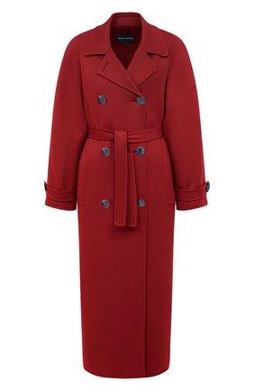 Женское кашемировое пальто GIORGIO ARMANI красного цвета, арт. 0WH0L04W/T00B2 | Фото 1