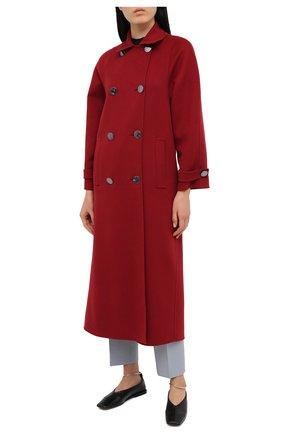 Женское кашемировое пальто GIORGIO ARMANI красного цвета, арт. 0WH0L04W/T00B2 | Фото 2