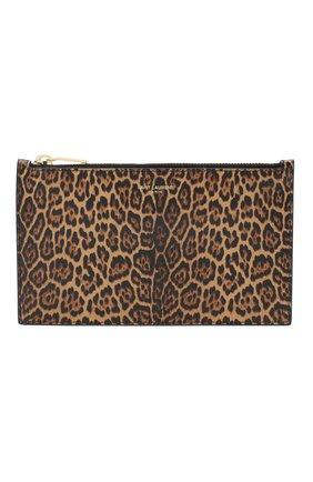 Женские кожаный футляр для документов rive gauche large small SAINT LAURENT коричневого цвета, арт. 635097/12S0J | Фото 1