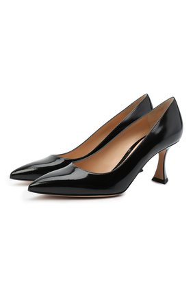 Женская кожаные туфли triangle 70 GIANVITO ROSSI черного цвета, арт. G22016.70RIC.SMANER0 | Фото 1