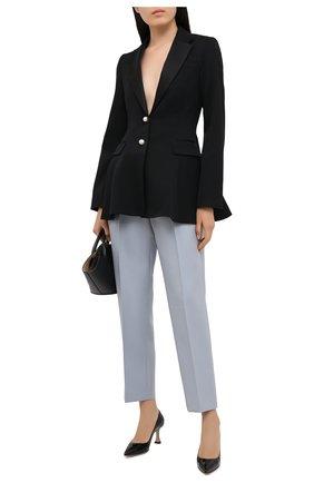 Женская кожаные туфли triangle 70 GIANVITO ROSSI черного цвета, арт. G22016.70RIC.SMANER0 | Фото 2