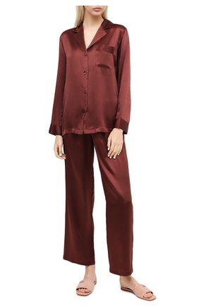 Женская шелковая пижама LUNA DI SETA коричневого цвета, арт. VLST08007 | Фото 1