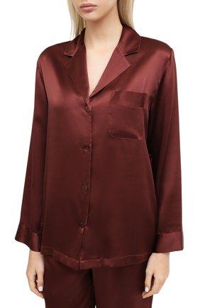 Женская шелковая пижама LUNA DI SETA коричневого цвета, арт. VLST08007 | Фото 2