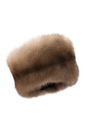 Женский меховая шапка KUSSENKOVV светло-бежевого цвета, арт. 61213641455 | Фото 1