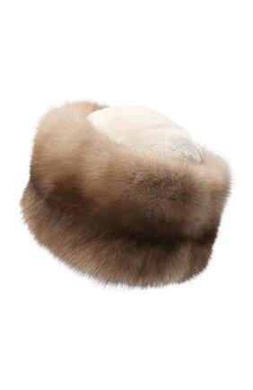 Женский меховая шапка KUSSENKOVV светло-бежевого цвета, арт. 61213641455 | Фото 2