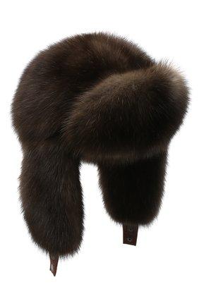 Женский шапка-ушанка из меха соболя KUSSENKOVV разноцветного цвета, арт. 93500004097 | Фото 1