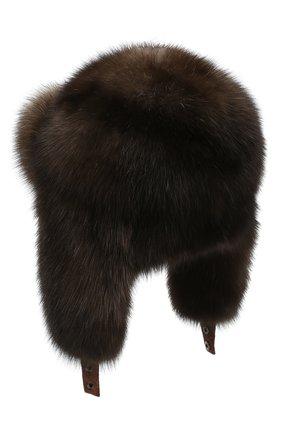 Женский шапка-ушанка из меха соболя KUSSENKOVV разноцветного цвета, арт. 93500004097 | Фото 2