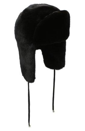 Норковая шапка-ушанка | Фото №1