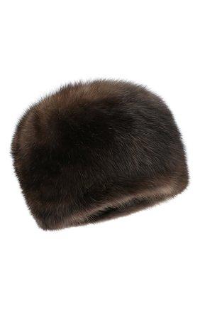 Женская шапка из меха соболя KUSSENKOVV темно-коричневого цвета, арт. 63500004676 | Фото 1