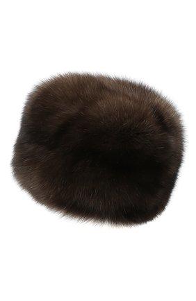 Женская шапка из меха соболя KUSSENKOVV темно-коричневого цвета, арт. 63500004676 | Фото 2