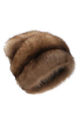 Женская меховая шапка KUSSENKOVV светло-коричневого цвета, арт. 63600005682 | Фото 1
