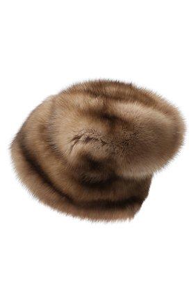 Женская меховая шапка KUSSENKOVV светло-коричневого цвета, арт. 63600005682 | Фото 2