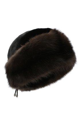 Женская меховая шапка KUSSENKOVV разноцветного цвета, арт. 62803504080   Фото 1