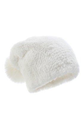 Женская норковая шапка KUSSENKOVV белого цвета, арт. 51750001205 | Фото 1