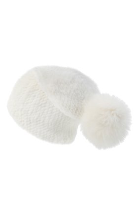 Женская норковая шапка KUSSENKOVV белого цвета, арт. 51750001205 | Фото 2