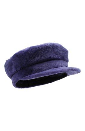 Женская кепи из меха норки KUSSENKOVV сиреневого цвета, арт. 120110060427 | Фото 1 (Материал: Натуральный мех)