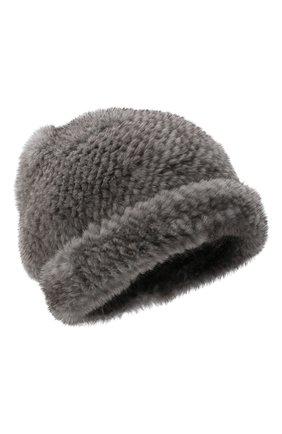 Женский меховая шапка KUSSENKOVV темно-серого цвета, арт. 50650010202 | Фото 1