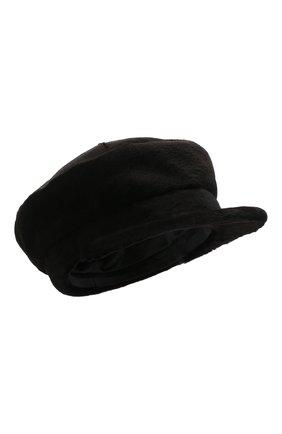 Женская кепи из меха норки KUSSENKOVV темно-коричневого цвета, арт. 120210004429 | Фото 1 (Материал: Натуральный мех)