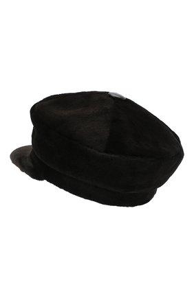 Женская кепи из меха норки KUSSENKOVV темно-коричневого цвета, арт. 120210004429 | Фото 2 (Материал: Натуральный мех)