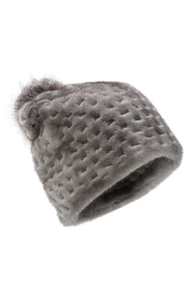 Женский шапка из меха норки KUSSENKOVV темно-серого цвета, арт. 70600010672 | Фото 1