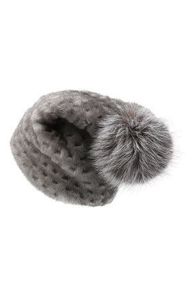 Женский шапка из меха норки KUSSENKOVV темно-серого цвета, арт. 70600010672 | Фото 2