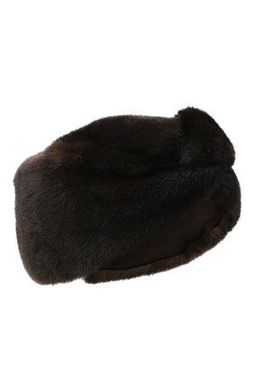 Женская меховая повязка на голову KUSSENKOVV темно-коричневого цвета, арт. 160200004016 | Фото 1