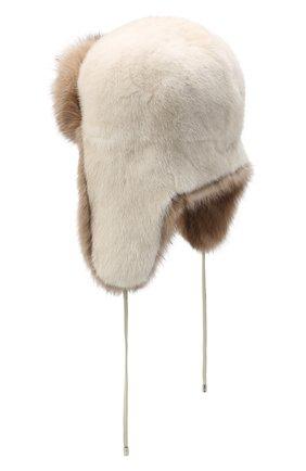 Женский норковая шапка-ушанка KUSSENKOVV разноцветного цвета, арт. 91203641094 | Фото 2