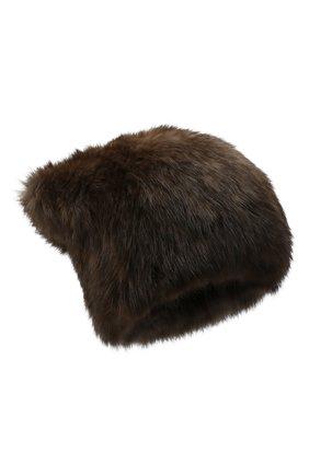 Женская шапка из меха соболя KUSSENKOVV коричневого цвета, арт. 53550003071 | Фото 1