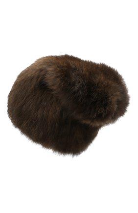 Женская шапка из меха соболя KUSSENKOVV коричневого цвета, арт. 53550003071 | Фото 2