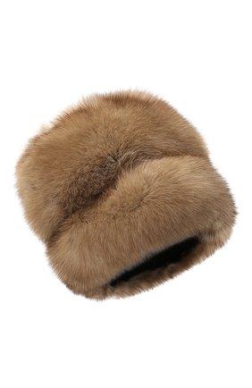 Женская меховая шапка KUSSENKOVV светло-коричневого цвета, арт. 63600005679 | Фото 1