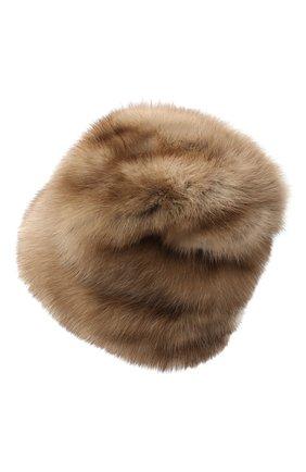 Женская меховая шапка KUSSENKOVV светло-коричневого цвета, арт. 63600005679 | Фото 2
