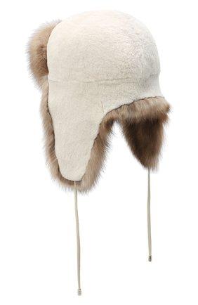 Женская норковая шапка-ушанка KUSSENKOVV разноцветного цвета, арт. 91213641094   Фото 2
