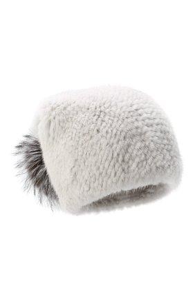 Женский норковая шапка KUSSENKOVV серого цвета, арт. 51650008205 | Фото 1