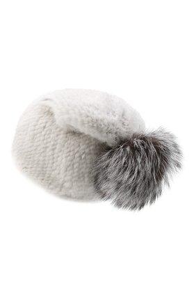 Женский норковая шапка KUSSENKOVV серого цвета, арт. 51650008205 | Фото 2