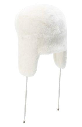 Женская норковая шапка-ушанка KUSSENKOVV белого цвета, арт. 91700001093 | Фото 2