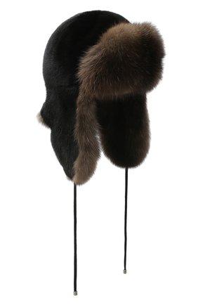 Женский норковая шапка-ушанка KUSSENKOVV разноцветного цвета, арт. 92803504094 | Фото 1