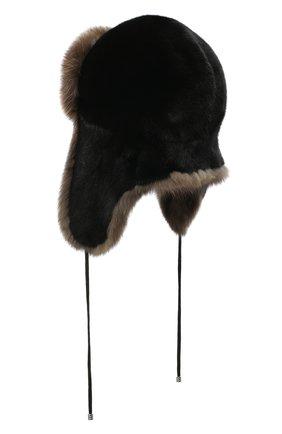 Женский норковая шапка-ушанка KUSSENKOVV разноцветного цвета, арт. 92803504094 | Фото 2