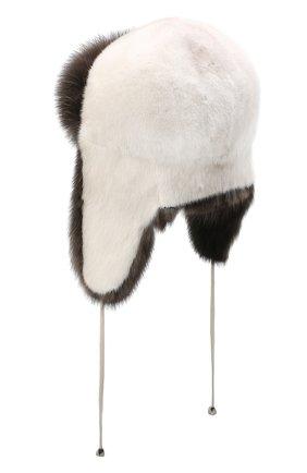 Женский норковая шапка-ушанка KUSSENKOVV разноцветного цвета, арт. 92003530094 | Фото 2
