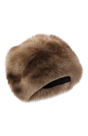 Женская шапка из меха соболя KUSSENKOVV светло-коричневого цвета, арт. 63600005676 | Фото 1