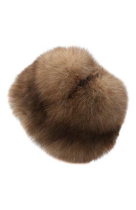 Женская шапка из меха соболя KUSSENKOVV светло-коричневого цвета, арт. 63600005676 | Фото 2