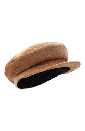 Женская кепи из меха норки KUSSENKOVV светло-коричневого цвета, арт. 120110005429 | Фото 1 (Материал: Натуральный мех)