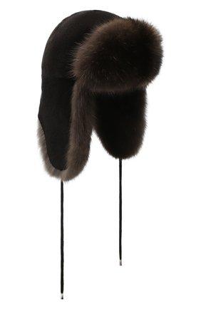 Женская норковая шапка-ушанка KUSSENKOVV разноцветного цвета, арт. 90213583094   Фото 1