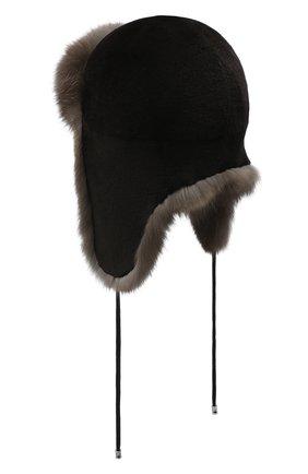 Женский норковая шапка-ушанка KUSSENKOVV разноцветного цвета, арт. 90213504094 | Фото 2