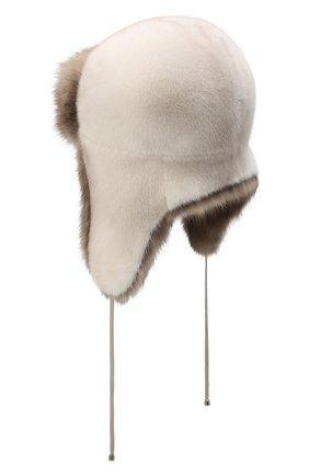 Женский норковая шапка-ушанка KUSSENKOVV разноцветного цвета, арт. 92003696094 | Фото 2