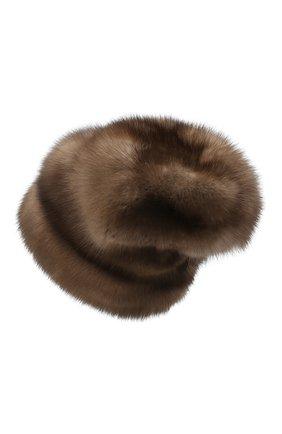 Женская меховая шапка KUSSENKOVV светло-коричневого цвета, арт. 63600005683 | Фото 2