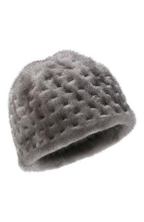 Женский шапка из меха норки KUSSENKOVV темно-серого цвета, арт. 80600010371 | Фото 1