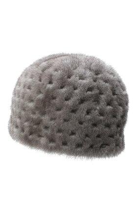 Женский шапка из меха норки KUSSENKOVV темно-серого цвета, арт. 80600010371 | Фото 2