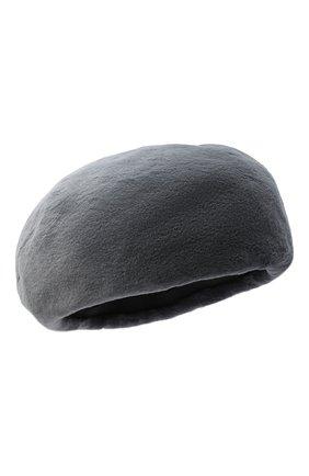Женский берет из меха норки KUSSENKOVV серого цвета, арт. 10110008023 | Фото 1